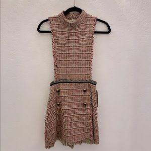 Zara pink tweed play suit
